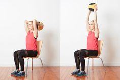 14 Unique Medicine Ball Exercises to Work Your Body and Core: Triceps Extension with a Medicine Ball