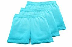 Sparkle Farms Girl's Bloomer Shorts, 3-pack Aqua Set 3. Many colors, seem expensive? 3 for $25 - might be too high. Also at Amazon.com
