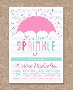 PRINTABLE BABY SPRINKLE Invitation - Baby Shower - Pink - Baby Girl