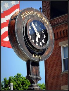 Punxsutawney, Pennsylvania - the home of Phil the Ground Hog, and in the news every My husband and I went here in 2002 to celebrate Ground Hogs Day! What a great time we had with lots of awesome memories! Mid Atlantic States, Pennsylvania History, Keystone State, Punxsutawney Pa, Groundhog Day, Pittsburgh Pa, Retro, Asana, Paintings