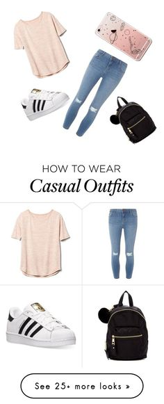 """casual"" by fashionforward027 on Polyvore featuring Gap, Dorothy Perkins, adidas and Madden Girl"