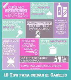 #Tips para el cuidado del #cabello.
