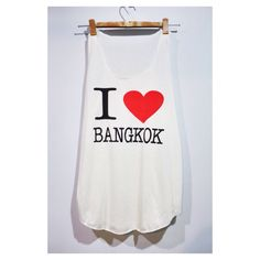 I Love Bangkok Tank Top Woman White Cream T-Shirt Tee Shirt Singlet Vest BUY 2 GET 1 FREE by pingypearshop on Etsy https://www.etsy.com/listing/205139375/i-love-bangkok-tank-top-woman-white