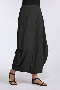 An interesting alternative to a skirt in hot weather.