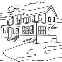 Dibujo De Una Casa Grande Para Colorear Coloring Pages Color Floor Plans