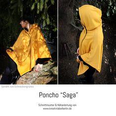 """Poncho """"Saga"""" genäht von Schneckengrünes"""