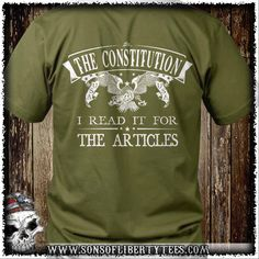 The Constitution. I Read if for the Articles. T-Shirt.  #2A #Comeandtakeit…