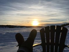 Karin Rossignol - Soaking up the Valentine's Day sun, -10 Celsius on Grace Lake - Yellowknife, NT, Canada #mukluk #stegermukluks