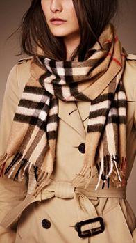 Sciarpa Heritage in cashmere check | Burberry