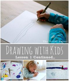 Drawing with Kids using the Monart Method : Lesson 1 -- Warm up exercises, a bird drawing, and a discussion on drawing skills and creativity...