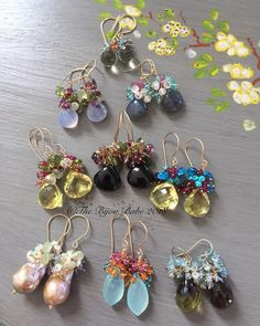 here's a still shot of the earrings featured in the video I just posted. Luscious AAA gemstone And.here's a still shot of the earrings featured in the video I just posted. Wire Jewelry Earrings, Small Gold Hoop Earrings, Gemstone Earrings, Beaded Earrings, Earrings Handmade, Diy Jewelry, Beaded Jewelry, Jewelery, Handmade Jewelry