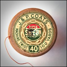 https://flic.kr/p/5T9WL5 | super sheen | Just love these old cotton reels found in my mum's sewing basket. I think the old labels are beautiful!
