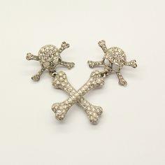 Image of Vivienne Westwood Skull and Bone Earrings