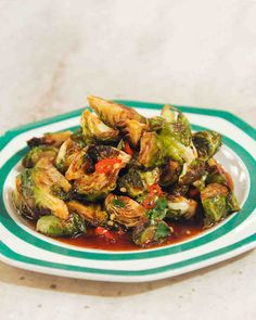 Roasted Brussels Sprouts with Chile Caramel.