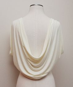 Draped back bridal shrug