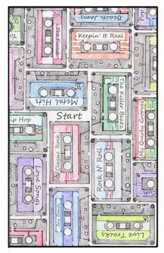 Cassette Tape Maze & Word Puzzle- Free Printable PDF - Hilberts Mazes