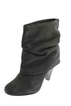 $25 Great condition Steve Madden Sz 8 5 Black Suede Leather Fold Over Boots Booties Heels Ankle | eBay
