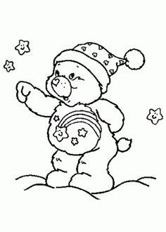 Desenhos de Pintar: ursinhos carinhosos