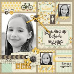 "Beautiful ""Growing Up Before My Eyes"" Blocked Layout.digital scrapbooking by Jady Day Studio - Sweet Shoppe Designs. Kids Scrapbook, Scrapbook Designs, Scrapbook Sketches, Scrapbook Page Layouts, Scrapbook Paper Crafts, Scrapbook Cards, Scrapbook Patterns, Scrapbook Embellishments, Kids Pages"