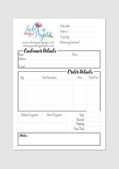 Sellers Order Book Sellers tools crafters must have image 0 Bakery Business, Craft Business, Business Tips, Business Shirts, Nota Online, Planner Stickers, Small Business Organization, Order Form Template, Order Book