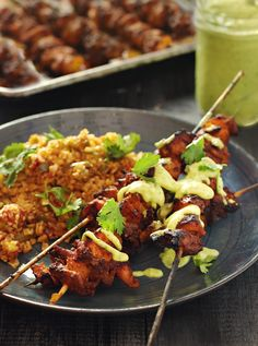 Mango Chicken Kabobs