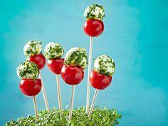 Fingerfood - herzhafte Snacks für Party und Buffet - tomaten-lollies  Rezept