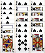 Další pěkná varianta hry solitaire.