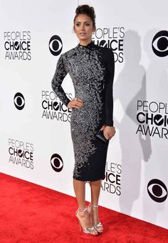 Nina Dobrev | Fashion At The 2014 People's Choice Awards