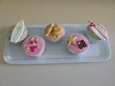 Cupcakes para festa com tema Praia e Surf (organizada pela Lima Limão)