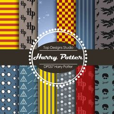"Harry Potter Digital Paper : ""Harry Potter DIGITAL Paper""- Harry Potter ClipArt, Harry Potter Digital Scrapbook Paper, Harry Potter Clipart"
