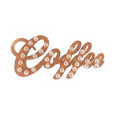 Coffee Marquee Sign | dotandbo.com