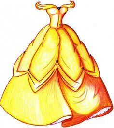Belle's+Dress+by+MOD37.deviantart.com+on+@deviantART