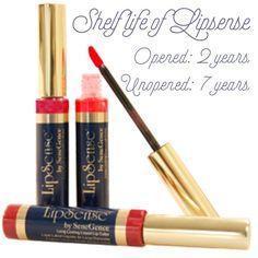 Shelf life of Lipsense! Sign up under distributor number 202048