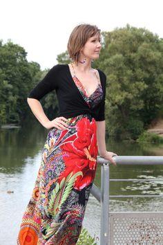 robe longue fleurie Desigual, cache-coeur New Yorker Cache Coeur, Robe  Longue, c8dcf43f6366