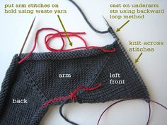 Sweater Techniques Series – Gramps Baby Cardigan – 4 / 6 : Top-Down Sweater Construction – Body and Arms   Tin Can Knits