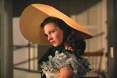 Vivien Leigh as Scarlett O'Hara.  Now that's a hat.