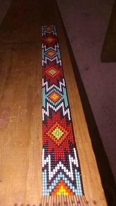 Beaded Belts, Beaded Hat Bands, Native Beadwork, Native American Beadwork, Bead Loom Patterns, Beading Patterns, Bead Jewelry, Jewelery, Beaded Watches