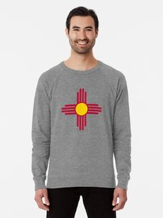 New Mexico Flag Symbol Patriotic Red Sun. Great gifts for New Mexico patriots. • Millions of unique designs by independent artists. Find your thing. New Mexico Flag, English Coonhound, French Terry, Chiffon Tops, Les Oeuvres, V Neck T Shirt, Vintage Inspired, Classic T Shirts, Graphic Sweatshirt