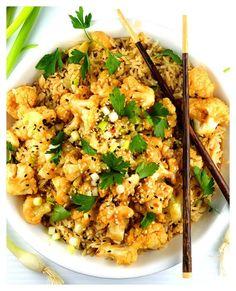 Baked Sticky Sesame Cauliflower {Vegan}
