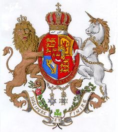 The coat of arms of the Kingdom of Hanover and the House of Hanover