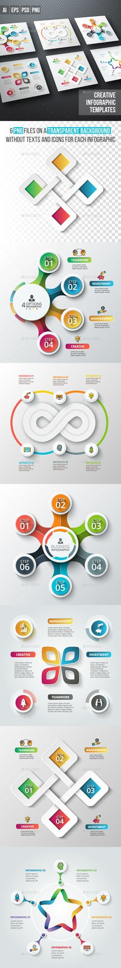 Business infographic Diagrams Templates PSD, Vector EPS, AI Illustrator