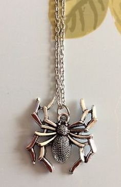 More Halloween Ideas! Silver Plated Spider Necklace #silver #silverplated #halloweencostume #halloween #spider #creepy #scary #necklace #pendant #accessories #jewellery #ladies #girls #animal #gifts #present https://m.ebay.co.uk/itm/Free-Gift-Bag-Silver-Plated-Spider-Pendant-Necklace-Jewellery-Animals-Xmas-/282418623128