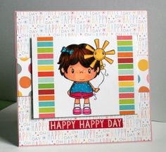 Adorable handmade Happy Happy Day card perfect for any by rbowen