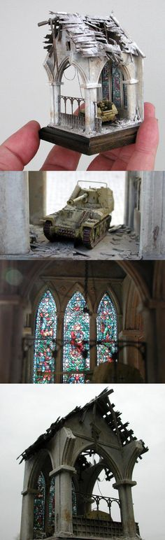 Marder in the church Base size 2inch X 2inch.