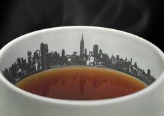 City Skyline in your tea cup