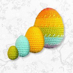 Paaseieren haken in alle maten en kleuren - Breiclub.nl Crochet Home, Diy Crochet, Crochet Chicken, Crochet Rabbit, Easter Crochet, Yarn Crafts, Easter Crafts, Happy Easter, Easter Eggs
