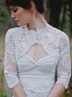 Lace Bolero cover-up shape wedding ORANGE soft 2015