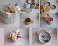 How to make cute round gift box step by step DIY tutorial instructions
