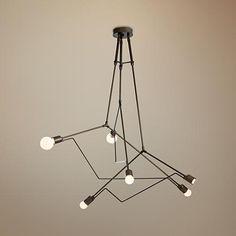 """Divergence 54 1/2""""W Bronze Indoor/Outdoor Pendant Light"""