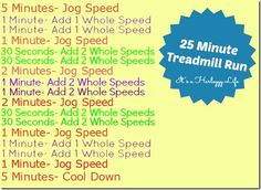 25 minute #treadmill run - #cardio #workout